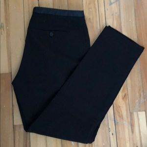Work pants with leather details